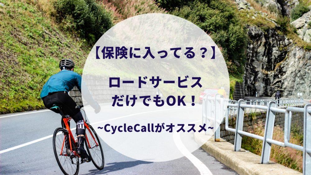 ロードバイクの保険とロードサービス